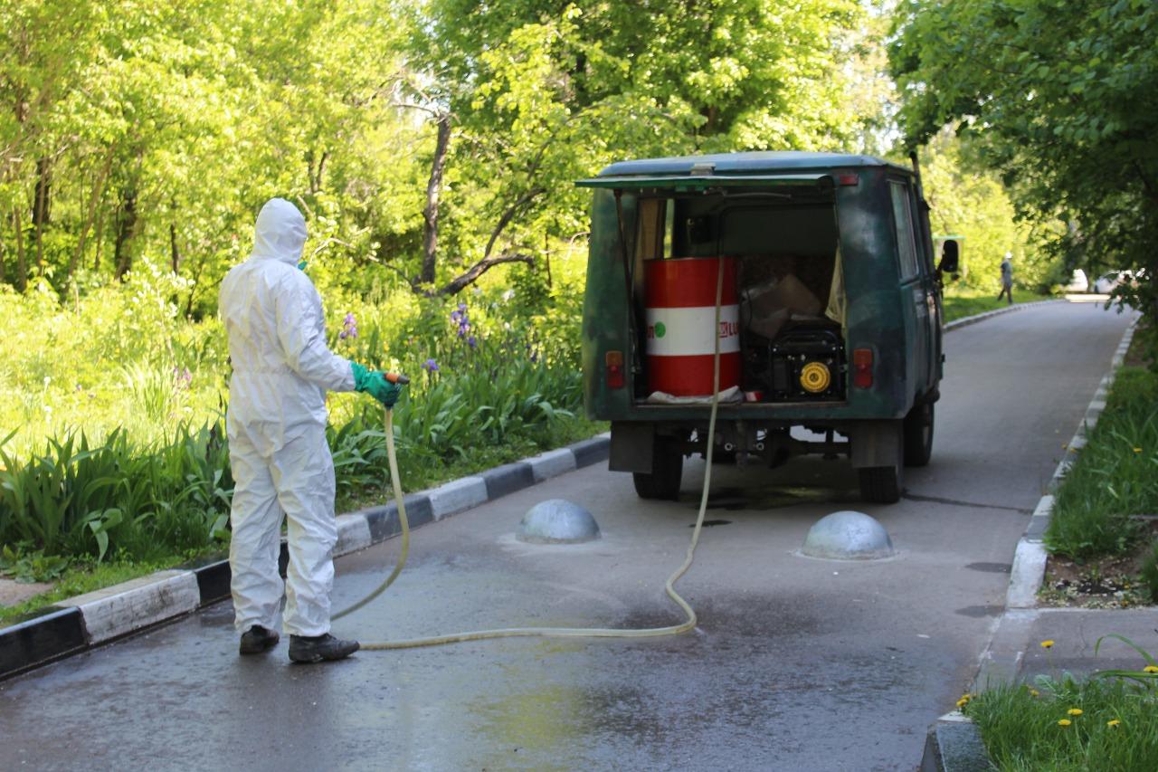 В Тольятти усиленно дезинфицируют дворы, скверы и дороги
