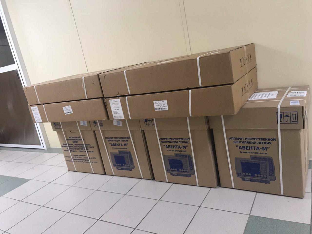 В больницы Самарской области поступили 10 новых аппаратов ИВЛ