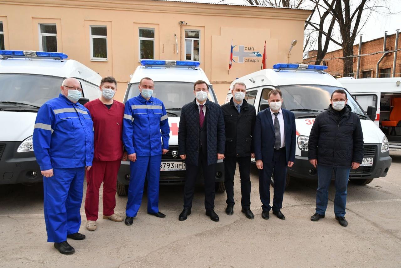 Самарская станция скорой помощи получила 67 новых автомобилей