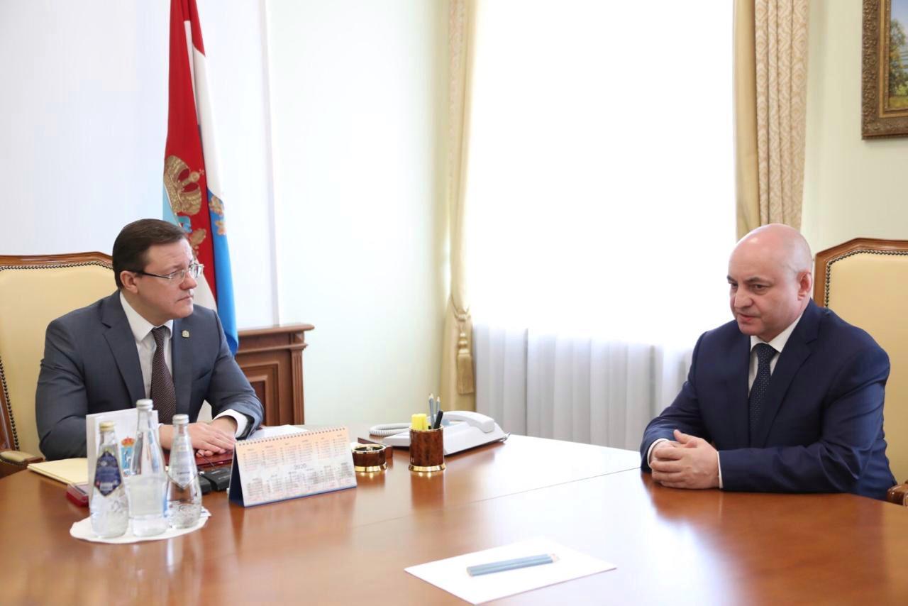 Губернатор встретился с новым главой ФСБ Самарской области