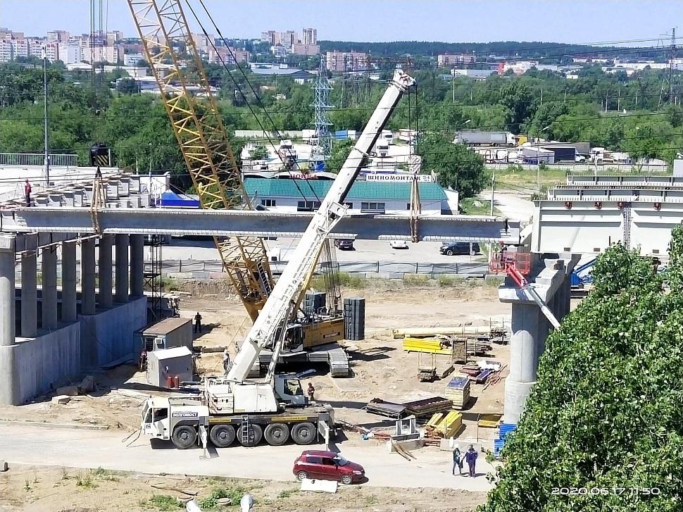 Развязку на М-5 в Тольятти соединили первой балкой