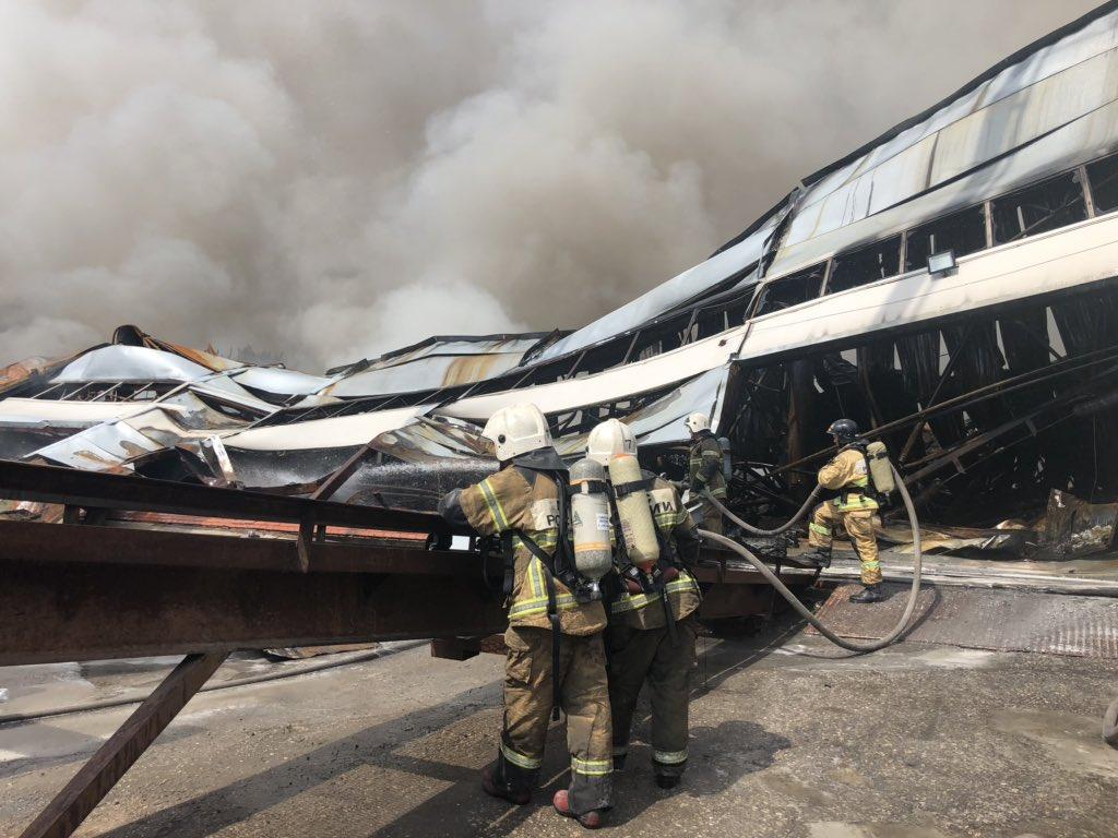 Прокуратура: пожар на самарском складе начался из-за неосторожного обращения с огнем