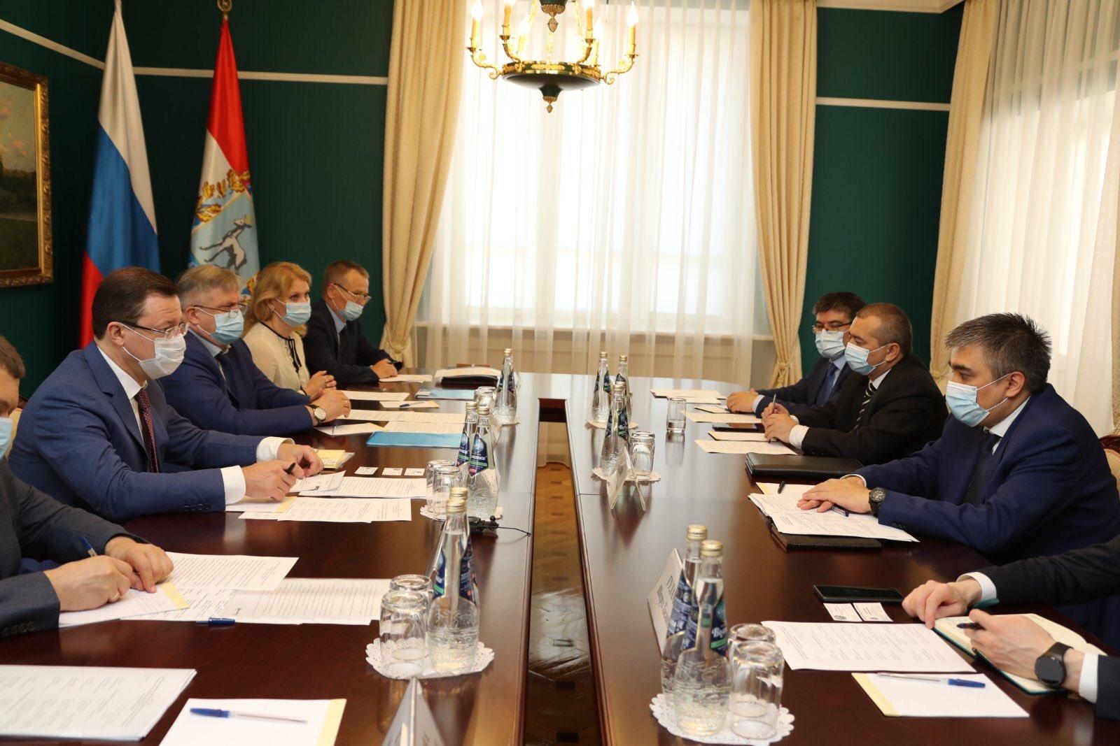 Губернатор Самарской области провел рабочую встречу с Полномочным послом Узбекистана