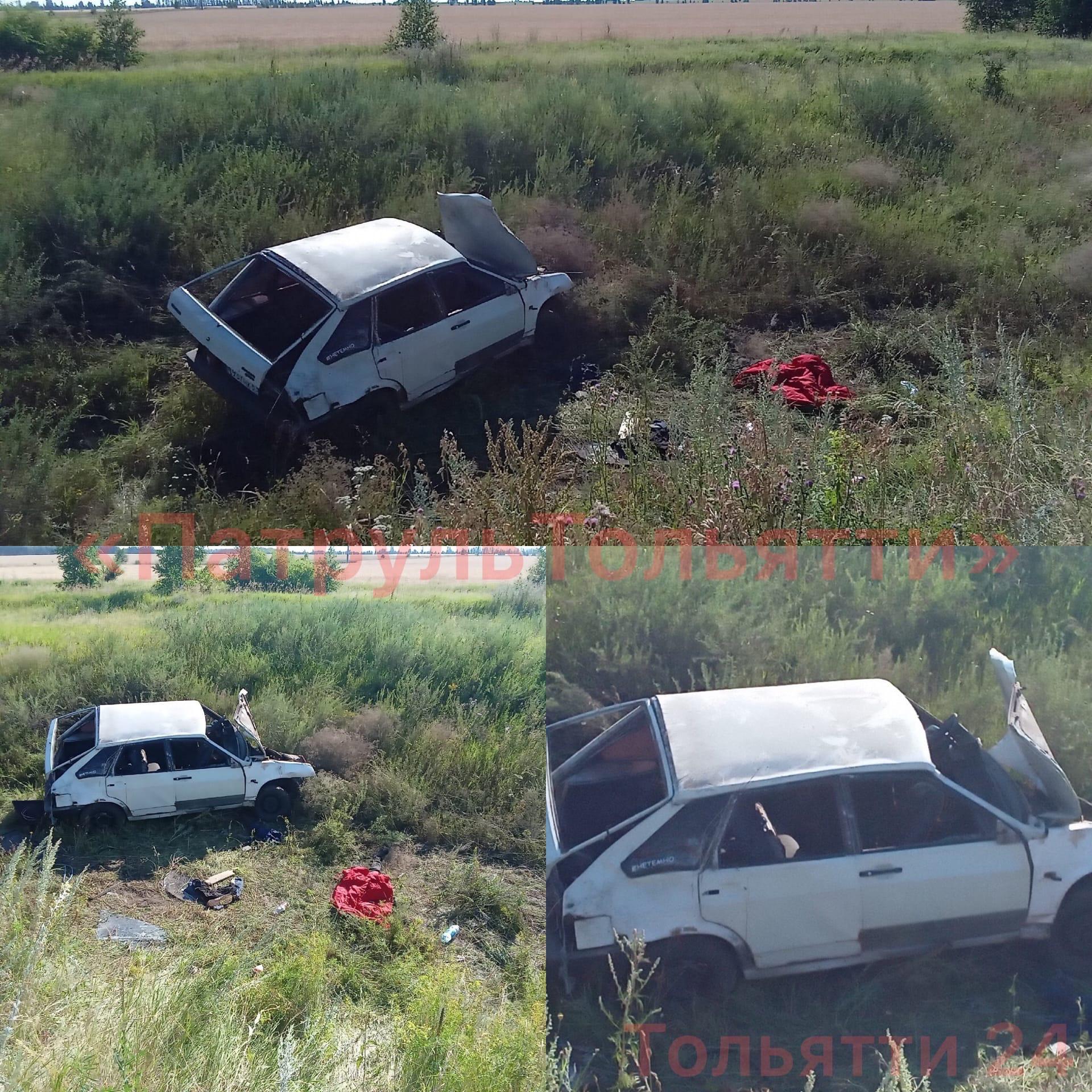 Под Тольятти машина с подростками попала в аварию, один погиб
