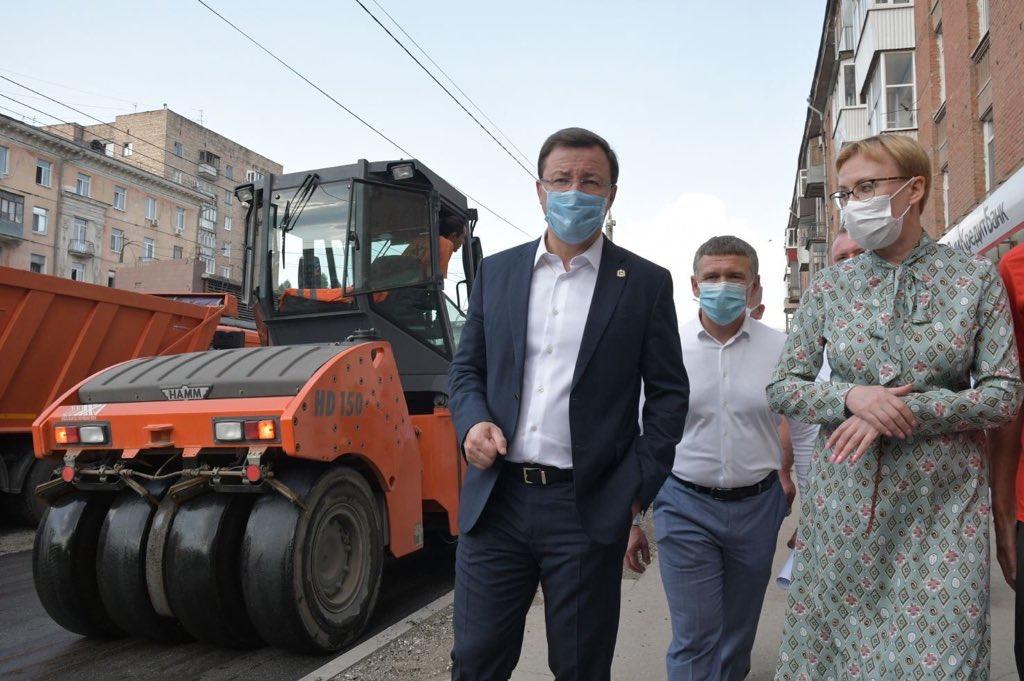 Комплексный ремонт улицы Победы в Самаре завершится до конца сентября