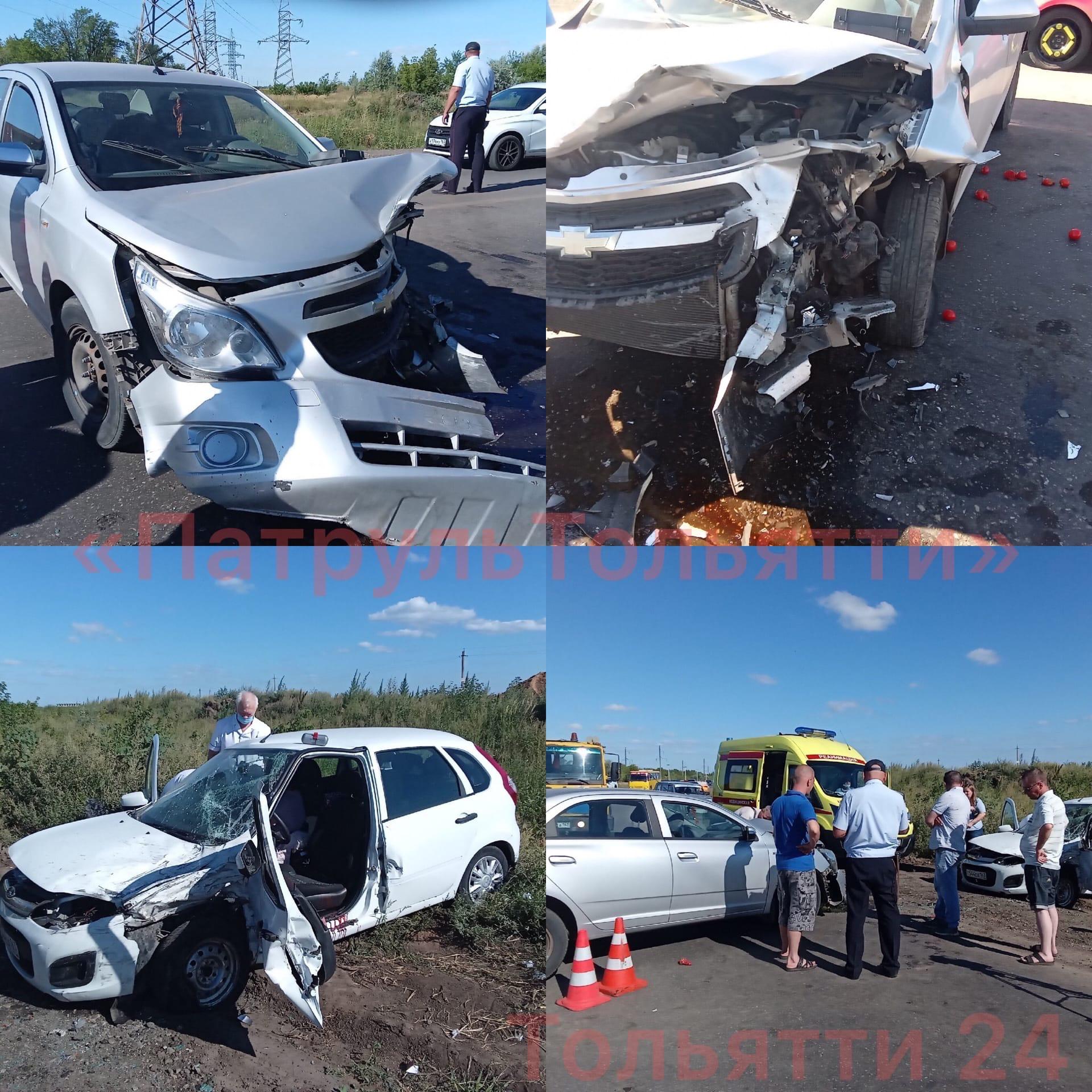 Под Тольятти 6 человек пострадали в лобовом столкновении машин