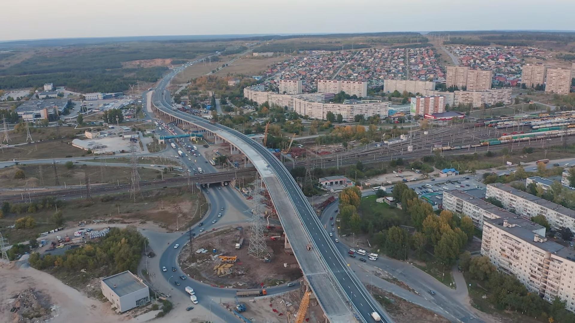 Показали в деталях: Рассматриваем новую развязку на М-5 в Тольятти с высоты