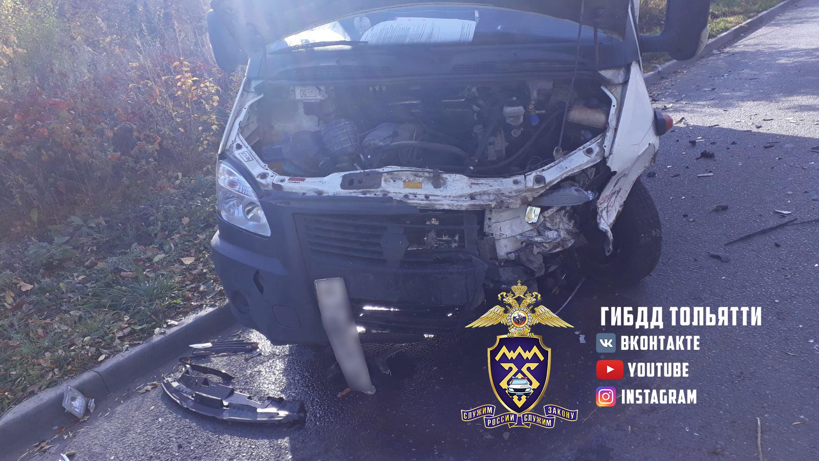 В Тольятти водитель «Газели» устроил аварию с пострадавшими и скрылся