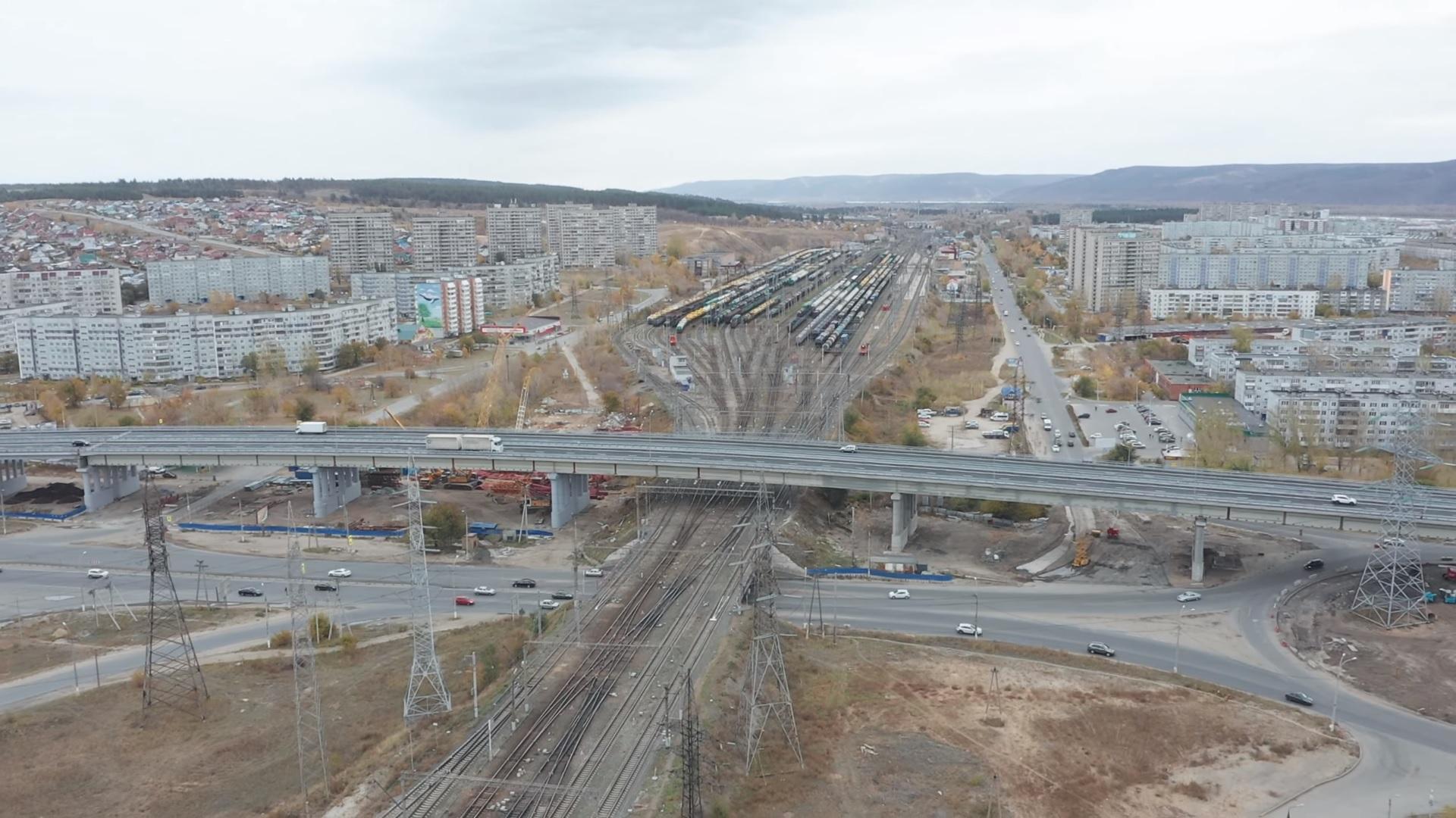 Полностью открытую развязку на М-5 в Тольятти сняли с новых ракурсов