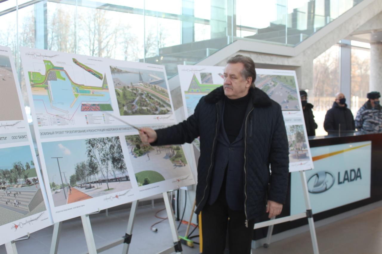 На новой набережной Тольятти будут заливать каток и ставить новогоднюю ель
