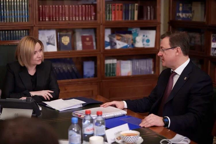 Губернатор Самарской области Дмитрий Азаров встретился с министром культуры РФ Ольгой Любимовой