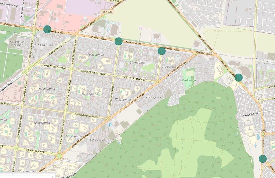 Места установки новых датчиков мониторинга воздуха показали на карте Тольятти